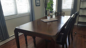 Solid, sturdy dining table