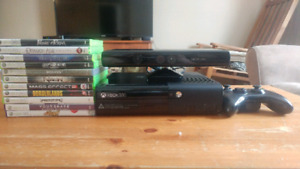 Xbox360 + Wireless Controller + Kinect + Lot of Games