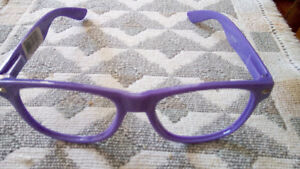 Nerd Glasses, neat purple frames, no lens