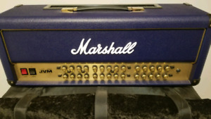Marshall JVM 410HJS half stack in blue tolex mint condition