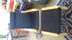 IKEA poang chair and foot rest