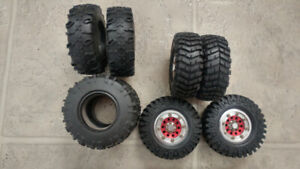 Selling a set of 1.9 tires and  aluminum wheels