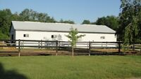 HORSE BARN AND PASTURES FOR RENT