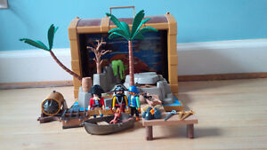 Playmobil pirate carry case treasure chest 4432