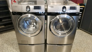Samsung washer and dryer set WITH STEAM