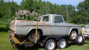 1962 D100 Dodge Sweptline Shortbox. Complete truck. Nice
