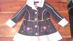 Manteau long d'hiver fille 4 ans