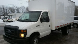 2008 FORD E350 Cube Van Truck 14ft body