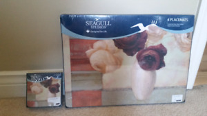 Seagull Pewter- Set of Placemats and Coasters NEW