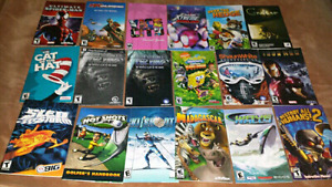 For sale video games manuals bundle or 3 for 5 dollars.