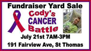 Cody's CANCER Battle Fundraiser Yard Sale