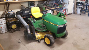 1998 GT 262 Deere with power bagger and tiller