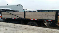 Single Axle/ Flat Bed Gravel truck for sale