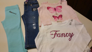 2T Girls set..Pants & tops...ALL BRAND NEW WITH TAGS