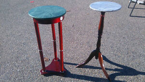 Marble Top Plant stands