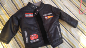 Cars leather like jacket 12-18 months