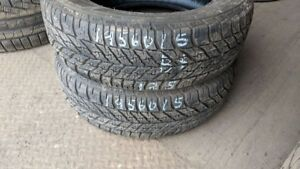 Pair of 2 Goodyear UltraGrip Winter 195/60R15 WINTER tires (75%