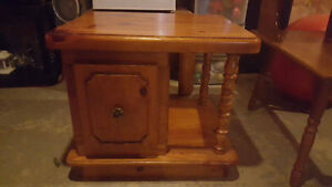 End Table Solid Wood double door