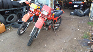 1984 and 1985 Honda XL600s