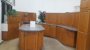 Oak Kitchen w/ Granite Counter tops at Cambridge ReStore