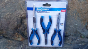 Mastercraft 3 piece Long Reach pliers set