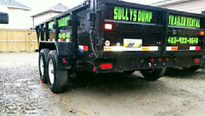 14 foot dump trailer for rent