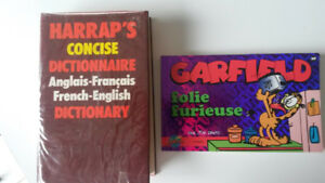 Harraps French-English Dictionary and French Garfield Book