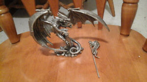 "Pewter dragon statue ""The Sky King"" for sale London Ontario image 2"