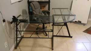 Glass Desk with Chair for Sale