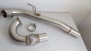 "Mk7 Gen 3 TSI Stainless Steel 3"" Catless Downpipe"