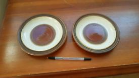 Pair of Vintage Denby Pottery Saucers / small plates