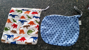 """Wetbags - Bumgenius """"Glimmer"""" & Minky Dinosaur double Wetbags"""