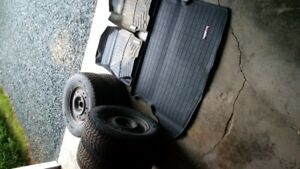 P235/70 R16 studded winter tires/rims and weathertech cargo/mats