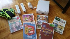 Wii Console White with 6 games