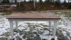 Hand-built farm table - only 3 reclaimed boards used for the top