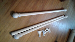17 ft. of 2 in. White Curtain Rod and Hardware