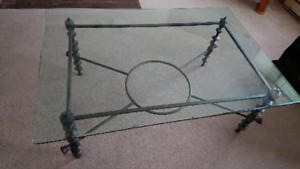 Glass and Iron Coffee Table - Amherst