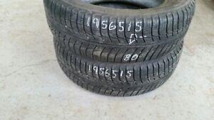 Pair of 2 Michelin Xice Xi3 195/65R15 WINTER tires (40% tread li
