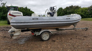 Caribe CL 13 RIB with evinrude 60HP