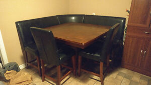Counter Height Dining Set with Wrap Around Bench