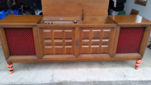 Antique Stereo Console