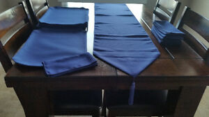 New Cobalt Blue Table Linen Set