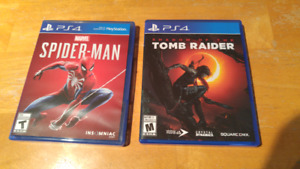 SPIDER-MAN SHADOW OF THE TOMB RAIDER PS4