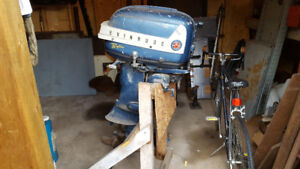 Old Evinrude 35 outboard motor.