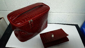 Cosmetic bag with wallet