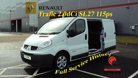 2011 RENAULT TRAFIC 2.0dCi SL27 115ps WHITE DIESEL VAN PHASE 3