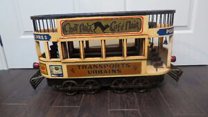 Large Vintage French Double Decker Trolley