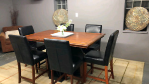 Dining set (6 chairs) bar hight/delivery available