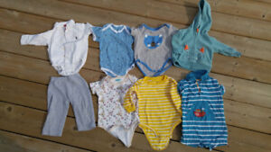 Baby Boy Clothing Lot Ranging from 3 to 12 months
