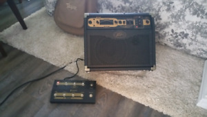 Peavey 100w acoustic amp for guitar and vocals. Plus footswitch
